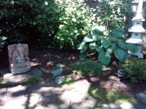 Zen Garden with a small pebble walk